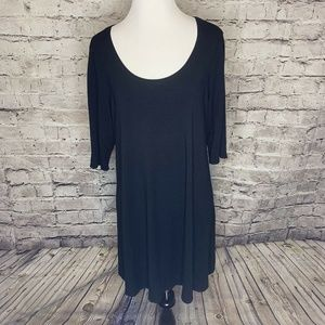 Eileen Fisher Made in USA Black Short Sleeve Large